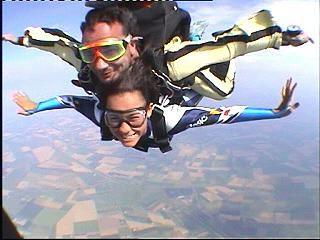 Lanci con paracadute tandem
