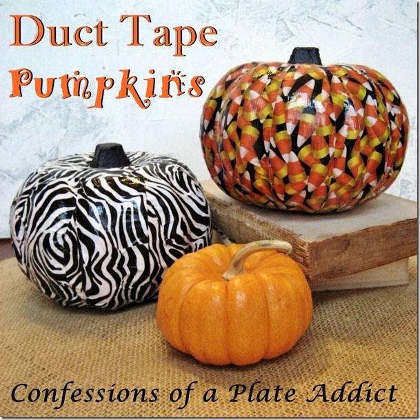 Halloween Fun...Easy Duct Tape Pumpkins