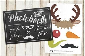 FREE Christmas Printable Photobooth props. Get yours for FREE here: http://www.appleberrypress.com/product.aspx?compId=1226 add some Christmas cheer to your wedding photobooth with printable santa hats, moustaches, pipes, carrot nose, festive glasses and much more...