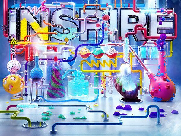 Adobe Inspire Magazine by Vault 49, via Behance