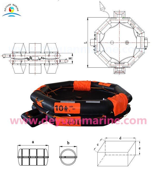 10 Man Inflatable Life raft