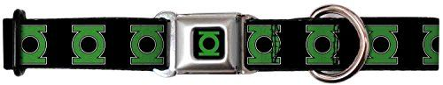BuckleDown 1117 GLDGreen Lantern Logo CLOSEUP BlackGreen Dog Collar Medium -- To view further for this item, visit the image link.Note:It is affiliate link to Amazon.