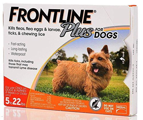 Frontline Plus Flea and Tick Control for Dogs and Puppies 8 weeks or older and up to 5 to 22lbs, 3-Doses : Pet Flea And Tick Repellents : Pet Supplies
