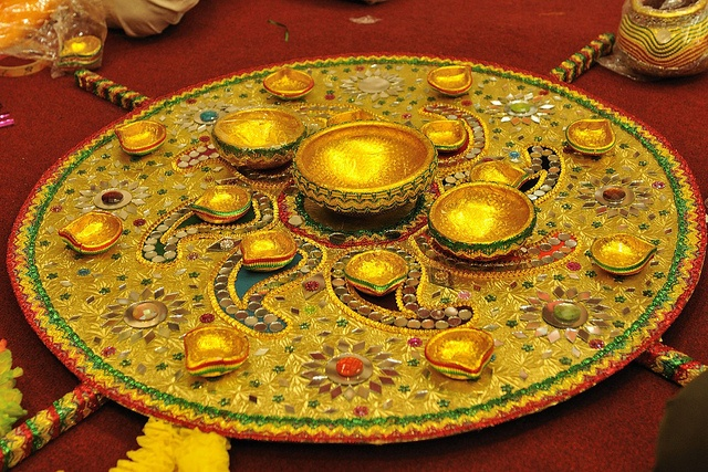Mehndi Thaal Decoration Ideas I : Mehndi thaal decoration pinterest accessories and