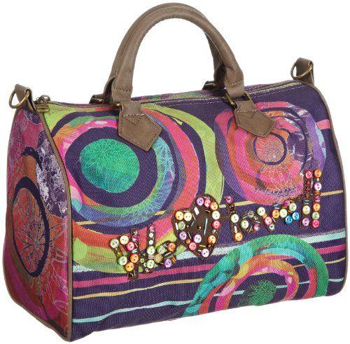 Desigual  BOLS_BOWLING FUN LIVING WINTER,  Borsa bowling donna, Viola (Violett (purple velvet 3081)), 18x25x30 cm (B x H x T)