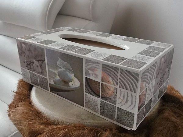 Decoupage - krabička na kapesníky