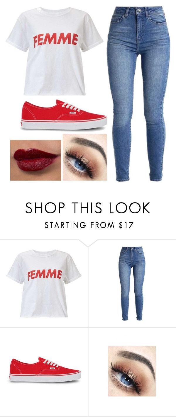 """Inspired by: Red"" by silverbeauty06 ❤ liked on Polyvore featuring Miss Selfridge, Vans, outfit and fashionable"