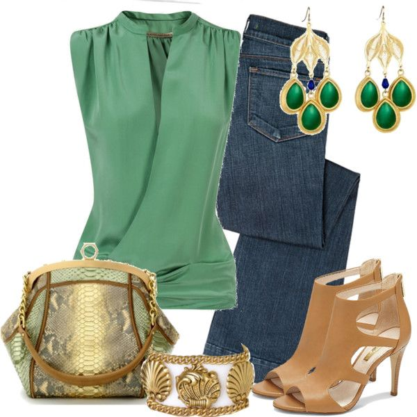 I really like this green top