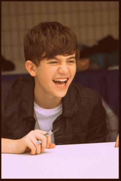 Greyson Chance <3 my true inspiration. Looks cute even when he's laughing