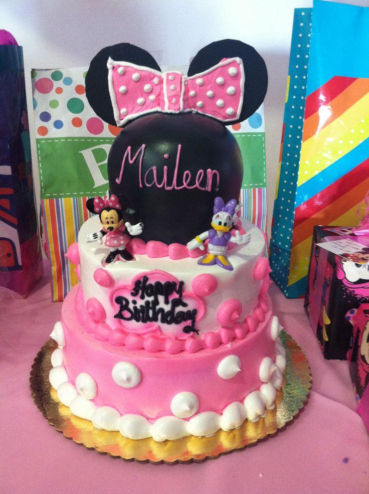 Maileens first birthday cake..Minnie and daisy | Minnie ...