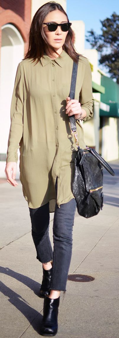 Tunic + cropped jeans