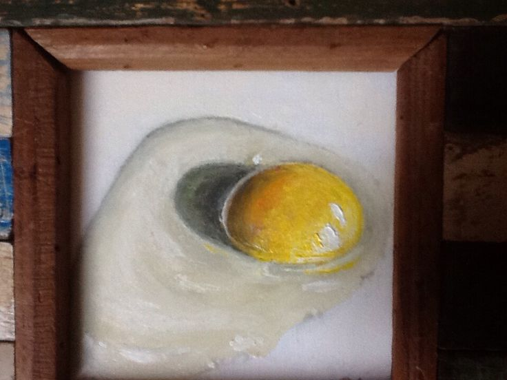 A raw egg painted by me yesterday.