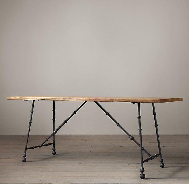 Oak and Iron Craftsman Desk