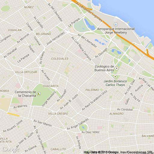 Mapa de Palermo Hollywood