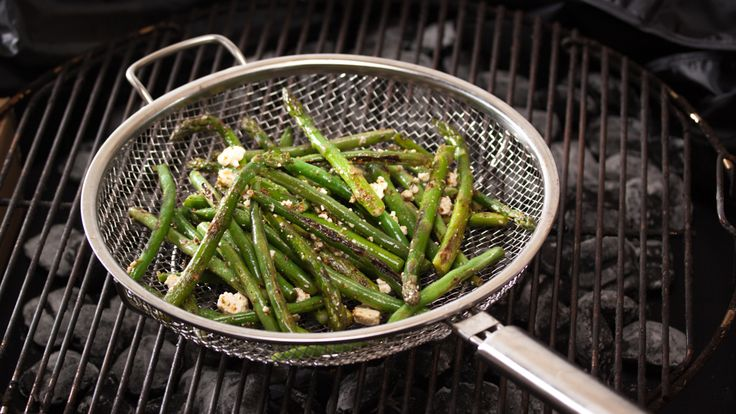 Barbecued Asparagus and Green Bean Salad