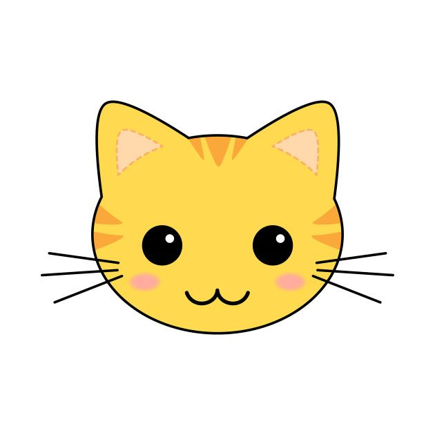 Cute Yellow Kawaii Tabby Cat Pin On Cats Cartoon Illustration Of Happy Yellow Cat Funny Yellow Cat Cartoon Lazy C Kitten Cartoon Yellow Cat Cartoon Cat