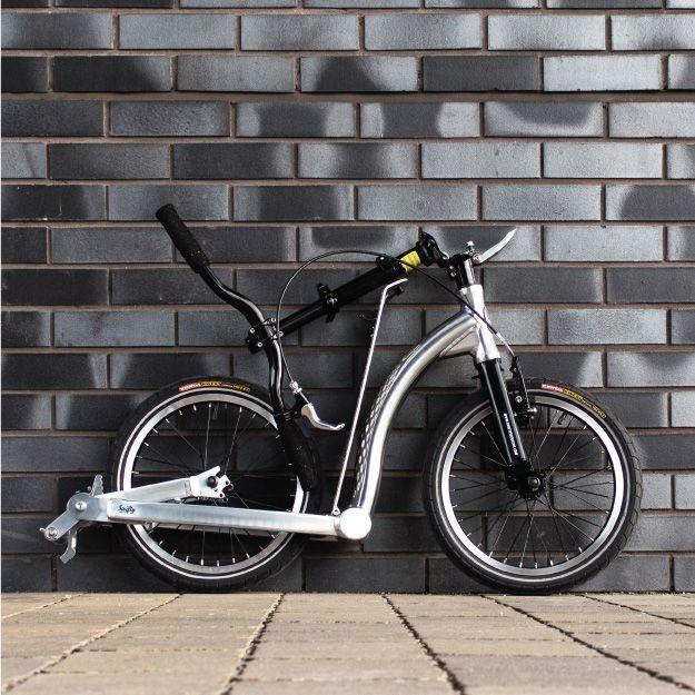 SwiftyONE MK3 polished aluminium folding scooter