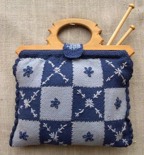 Pin Loom Woven knitting bag