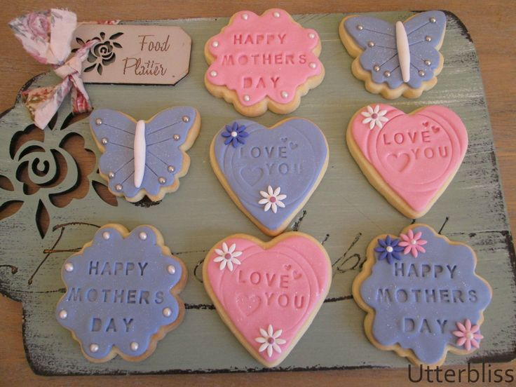 Mothers day iced biscuits.