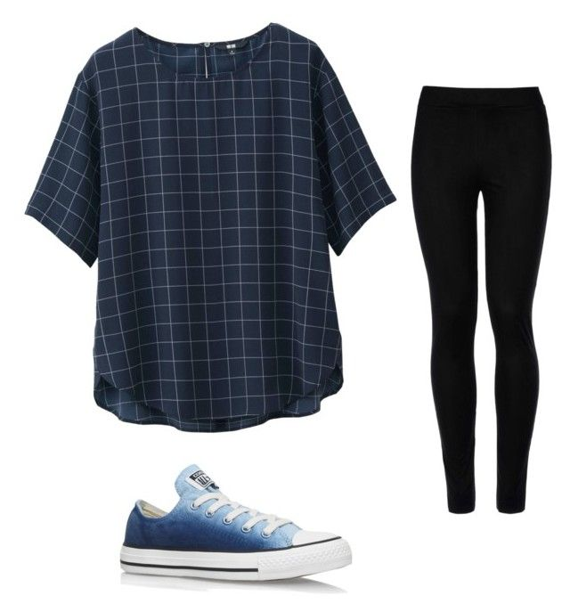 """""""Untitled #40"""" by kennedyk13 on Polyvore featuring Uniqlo, Converse and Wolford"""