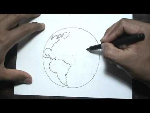 Aprende a dibujar facil - dibujo del planeta tierra - globo terraqueo - ...