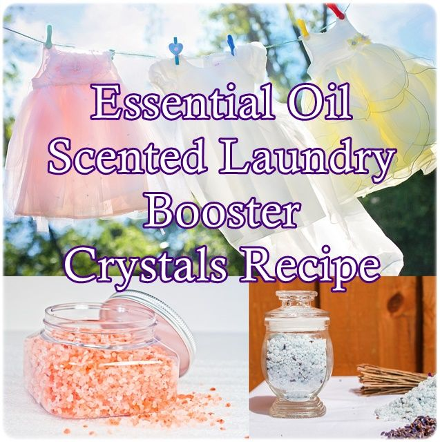 Essential Oil Scented Laundry Booster Crystals Recipe