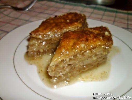 Baklava od domace jufke ~ Kuhinja, Recepti, Specijaliteti