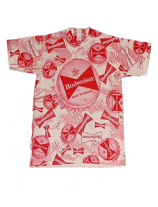 Image of Vintage Budweiser Print T Shirt