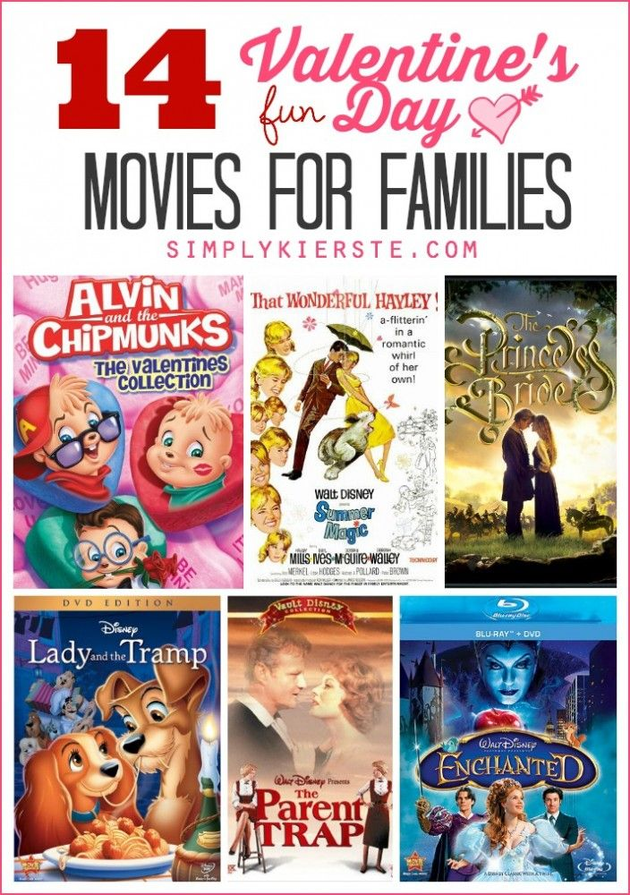 A list of 14 fun Valentine's Day movies for families! Snuggling up together to watch a movie is perfect way to celebrate!