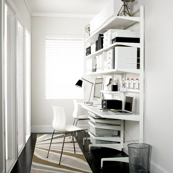White Elfa Décor Freestanding Office