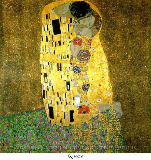 Painting Reproduction of The Kiss, Gustav Klimt
