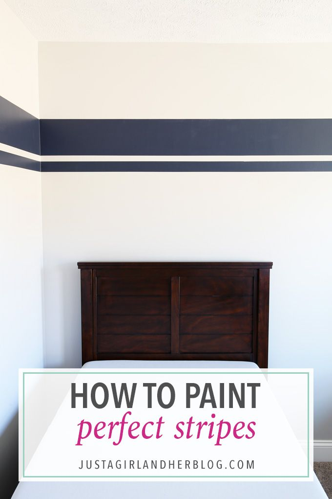 I've always wondered how to paint perfect stripes on walls, and this post shares the secret! It is so easy! Click through to the post to see how!