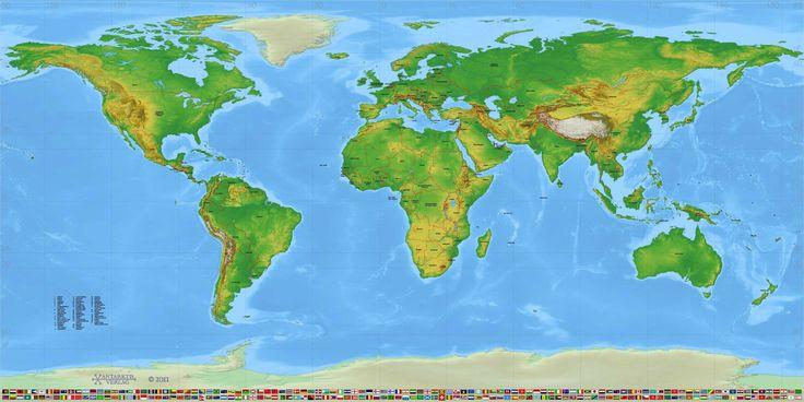 Pvc Banner Weltkarte Politisch Typ C