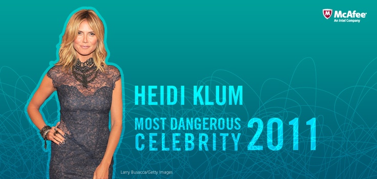 Heidi Klum is named 2011's Most Dangerous Celebrity to search for in cyberspace