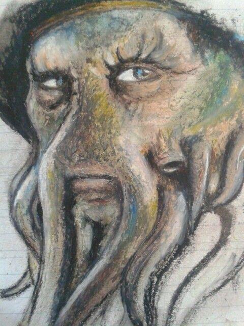 Davy Jones, oil pastels