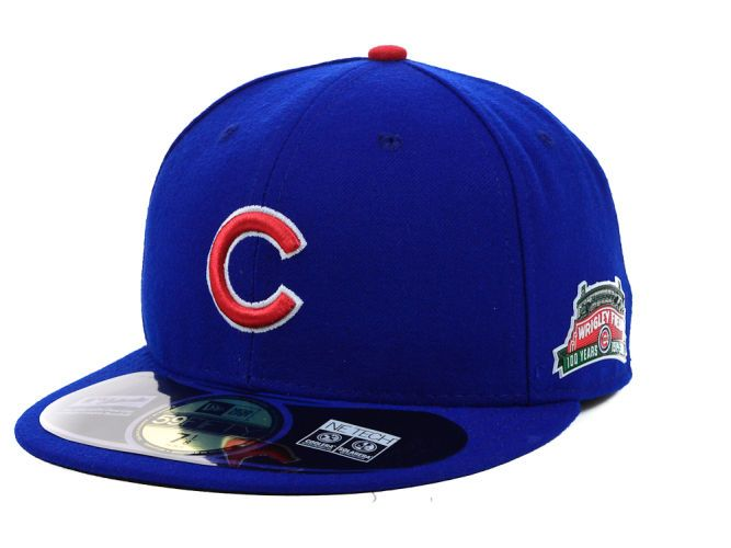 Chicago Cubs New Era MLB Wrigley Field 100th Anniversary Patch 59FIFTY Cap Hats