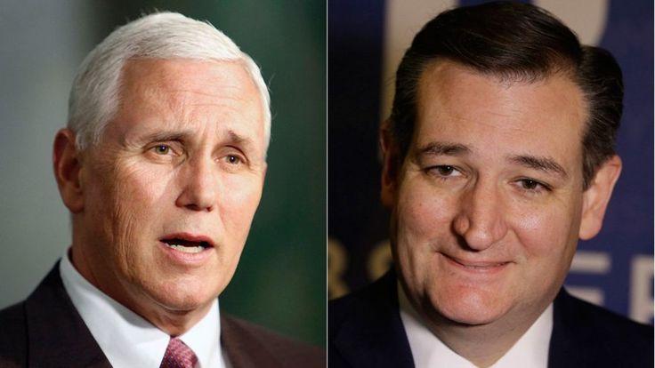 Indiana governor Mike Pence backs Ted Cruz - BBC News