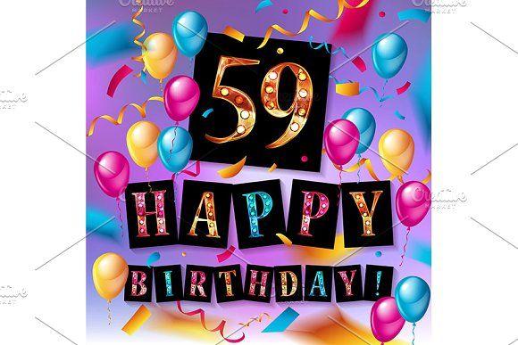 59 Years Anniversary Verjaardag Afbeeldingen Verjaardagswensen