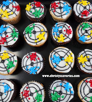 Christy's Savories: Paintball Cupcakes