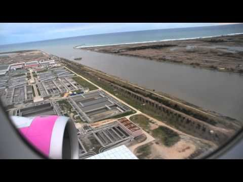 Landing on Barcelona El Prat airport