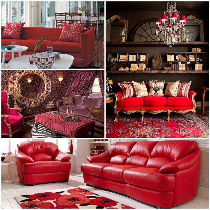 Rotes Sofa Rot Das Rote