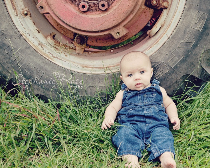Great picture idea for Bralynn in her lil overalls and by one of our