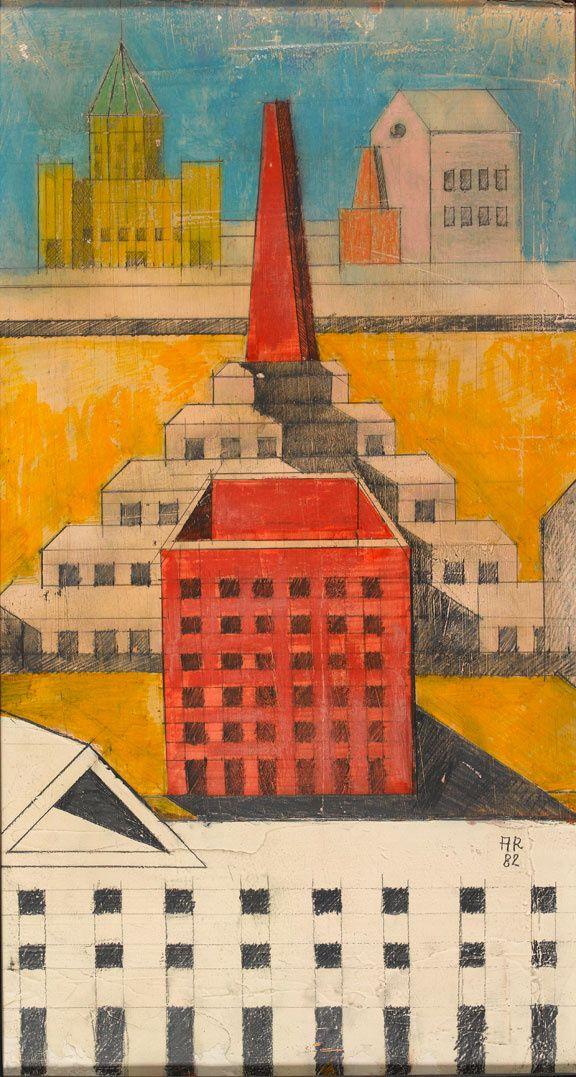 http://www.admagazine.fr/architecture/pag/6 Aldo Rossi Perspective Composizione, Teatro del Mondo, Venezia, 1980