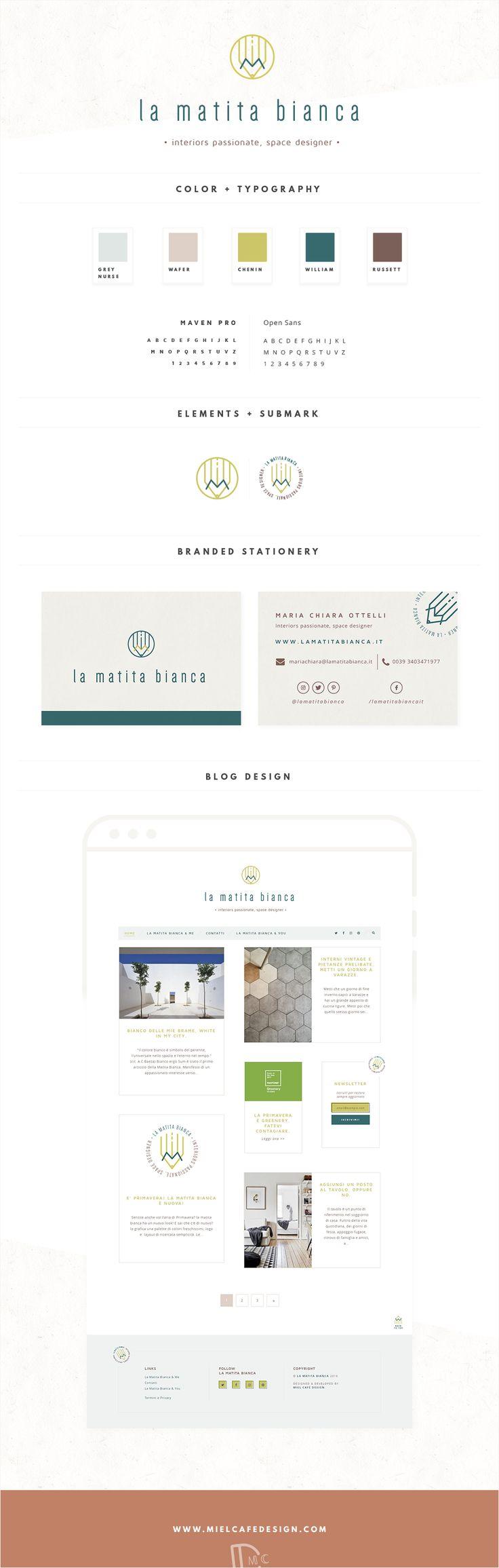 Custom Blog Design & Branding for interior blog La Matita Bianca