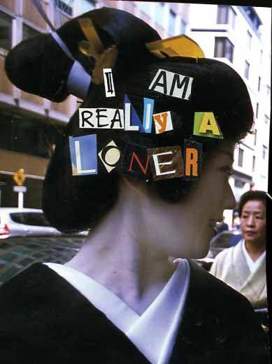 I am really a loner #postsecret