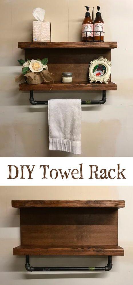 Rustic Towel Rack Design Diyhome Bathroomproject