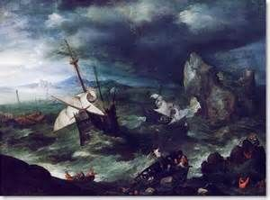 The Storm at Sea. Believed to be one of Bruegel's last works. Some believe it was painted by another Joos de momper. Bruegel's sons were the beginning of  a long history of artists. Painters in the Bruegel family successfully continued the artist's tradition as late as the 1700's.