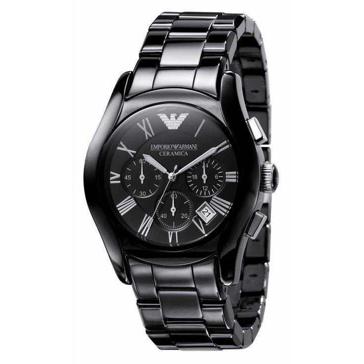 Emporio Armani AR1400 Men's Ceramica Black Dial Bracelet Watch