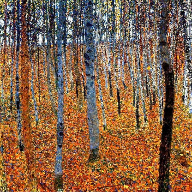 peinture autrichienne : Gustav Klimt. Forêt, 1903
