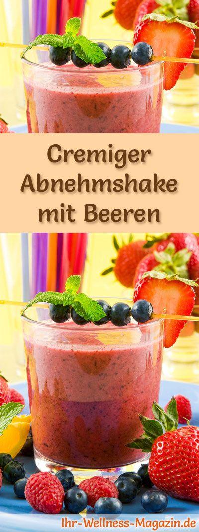 Abnehmshake mit Beeren, mit oder ohne Eiweiß und weitere leckere Abnehmshakes, Eiweißshakes